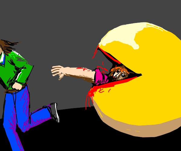 PacMan eating people in real life.
