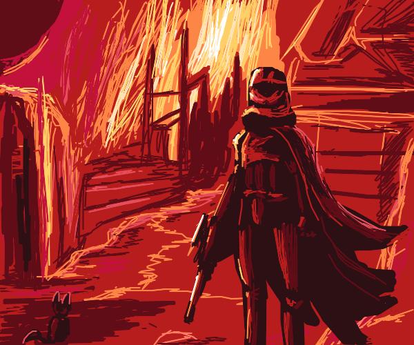 Captain Phasma burns down a village