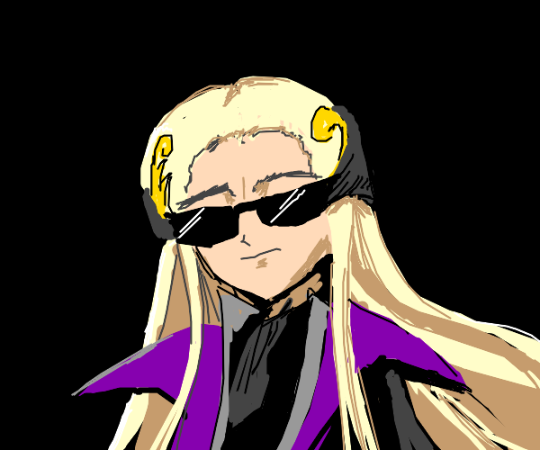 vv cool anime man with shades