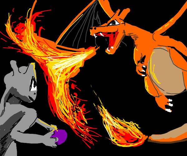 Mewtwo vs charizard