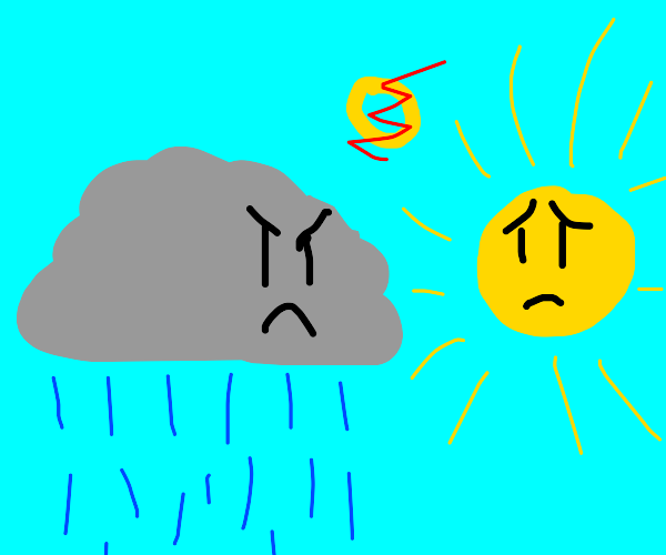 Rain cloud decides to finally divorce the sun