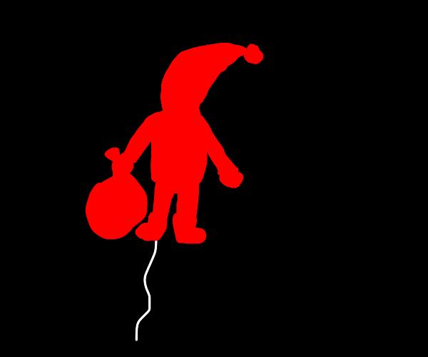 A Santa Claus-shaped Balloon