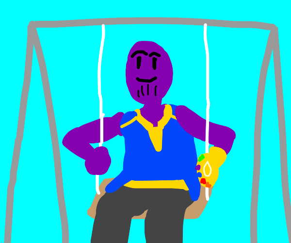 Thanos on a swing