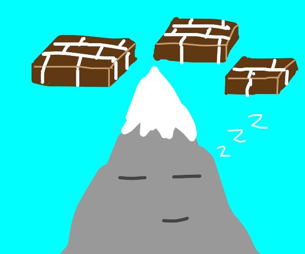 3 Brick Platforms atop a sleeping Mountain