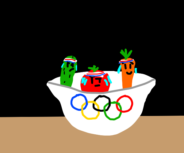 Vegetables olympics in a bowl