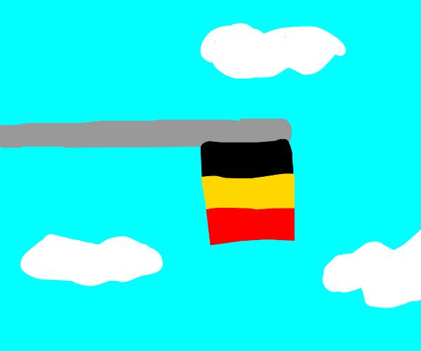 Belgian flag turned sideways