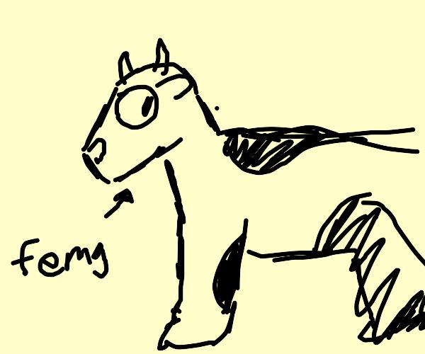 A cow named Femg.