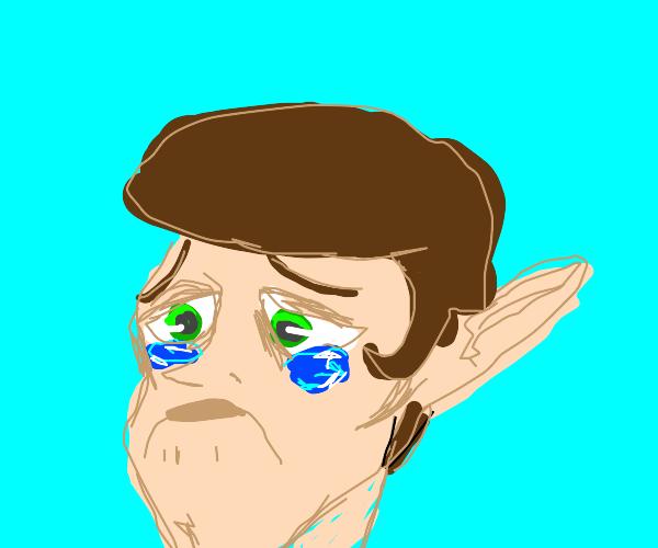 very sad elf