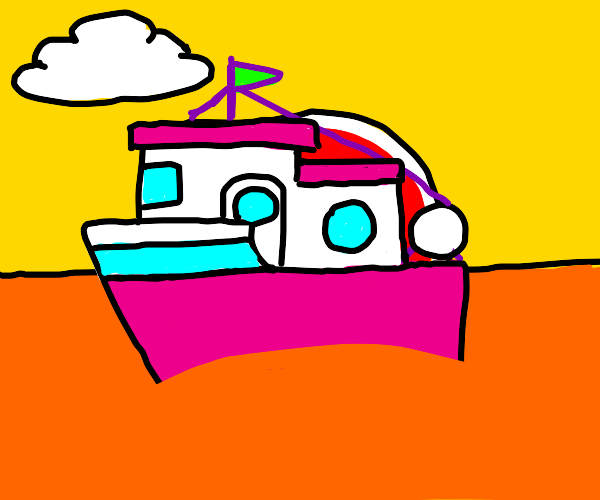 Boat in fanta water