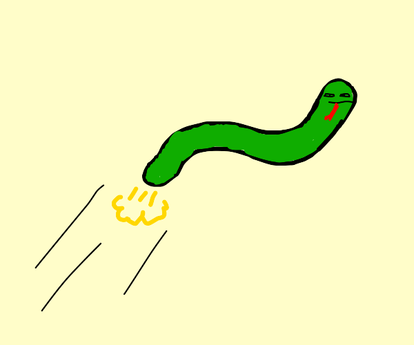 Snakes use fart propulsion
