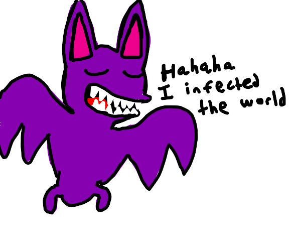 bat laughs in victory