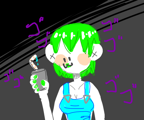 Some Jojo Character With Green Hair Idk Man