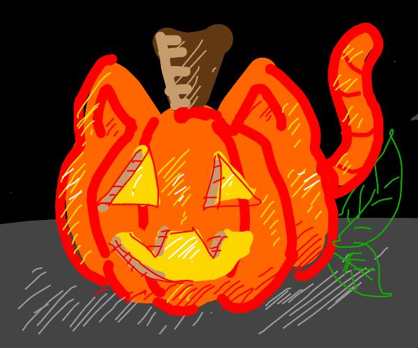 Furry Jack-o'-lantern