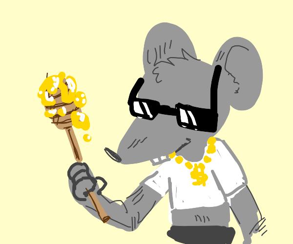 the coolest rat ever has honey