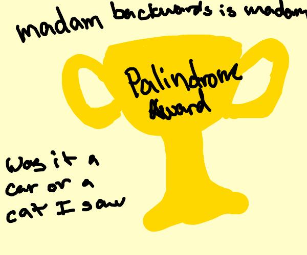 The Palindrome Awards