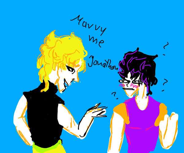 dio proposes to jonathan