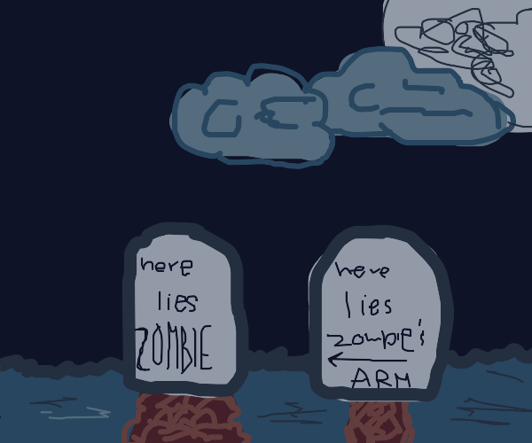 Zombie's arm was buried separately