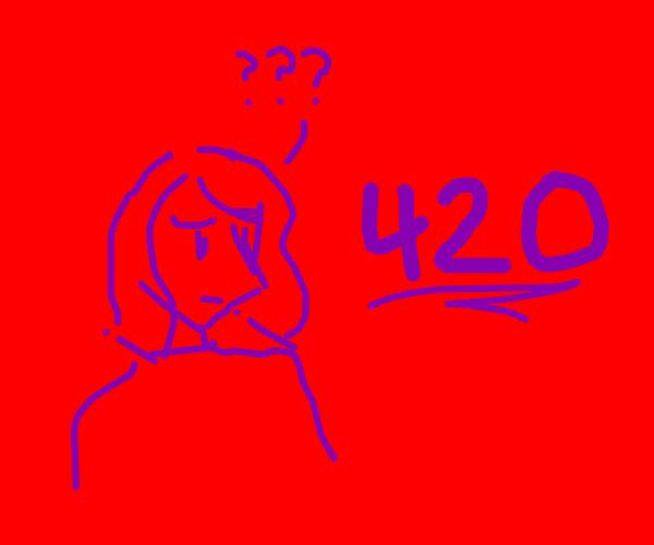 retina burn girl confused at 420