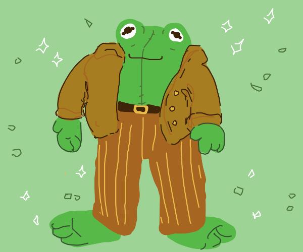 Dressed up Frog