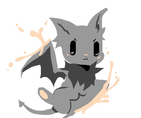 Cute Kawaii Bat Kills With it's Wing