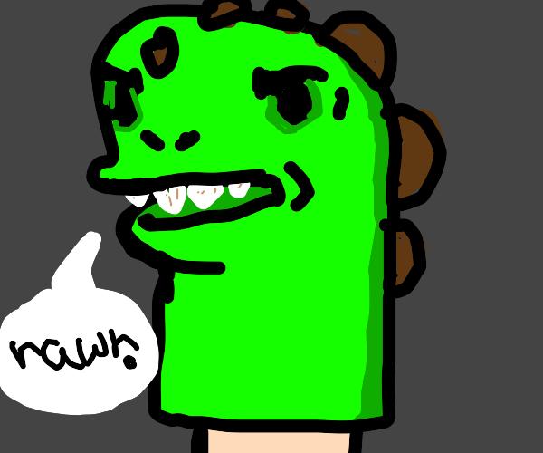 Dino hand-puppet