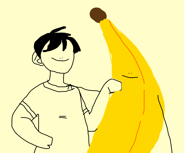 Boy's best friend is a banana