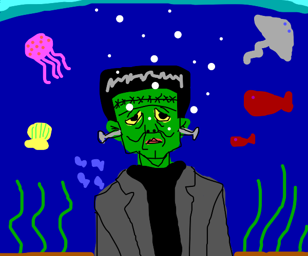 Frankenstein's Monster underwater