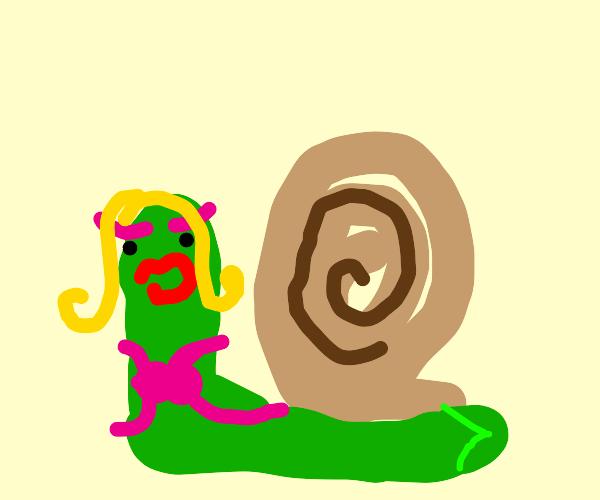 Sexy lady snail