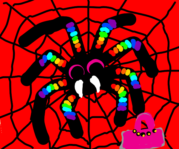 The gay hell spider is an actual spider