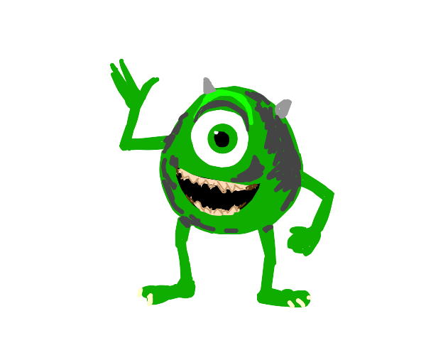 green monster with 1 eye