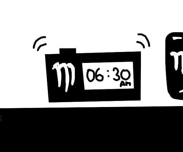Monster alarm clock