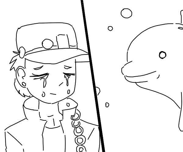Jotaro misses the live of his life, dolphin