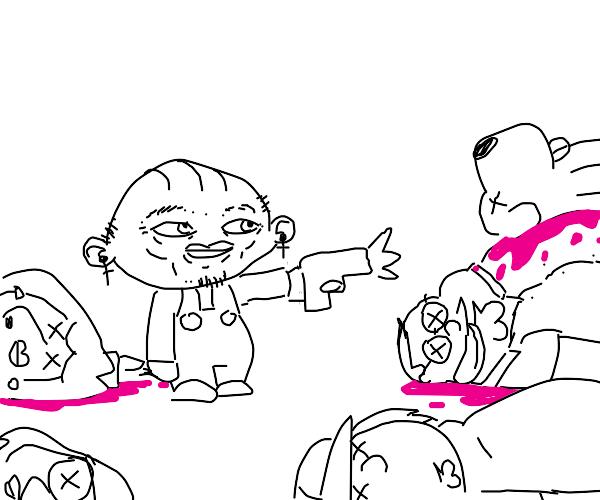 Stewie is a serial killer