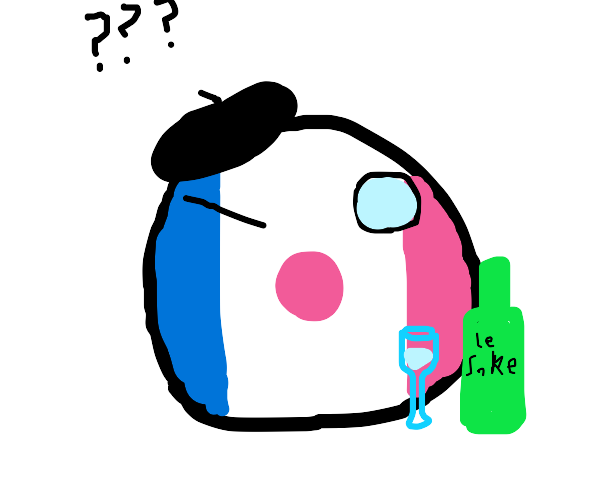 The French flag of Japan