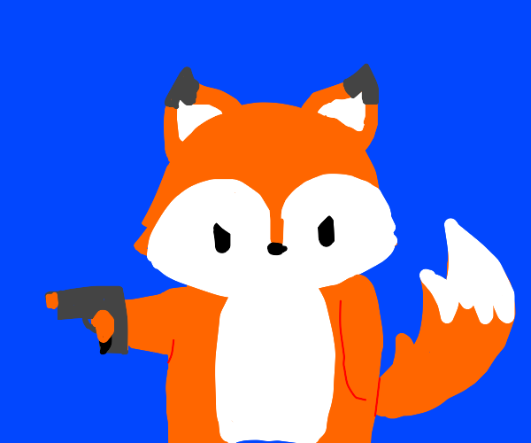 Fox with a gun
