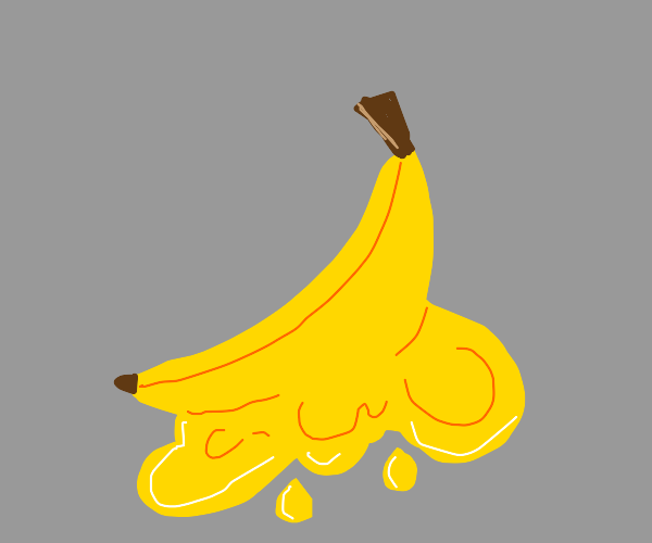 melting banana