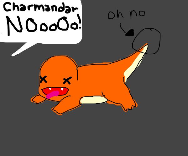 charmander lost its fire