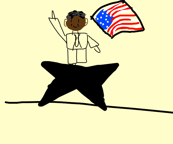 obama on a star