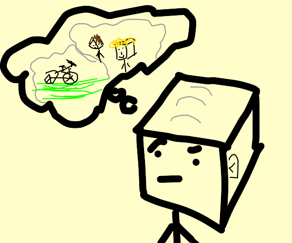 cube-man gets nostalgic