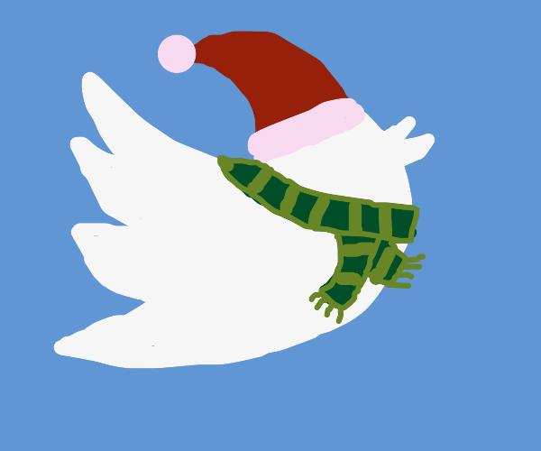 Chritmas Twitter Bird