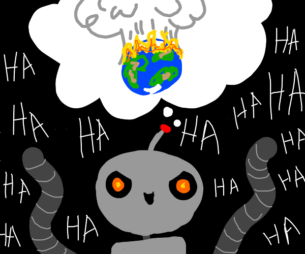 Robot plans to destroy humanity