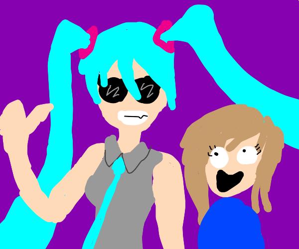 Cool Miku miku and some other girl