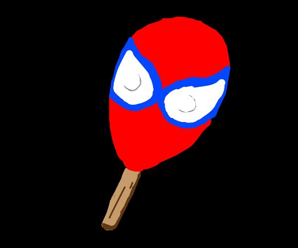 Spiderman lollipop