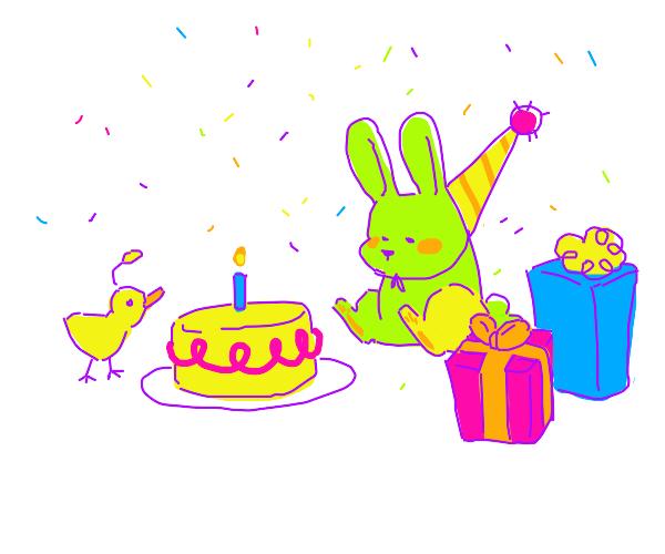 Cute rabbit birthday party