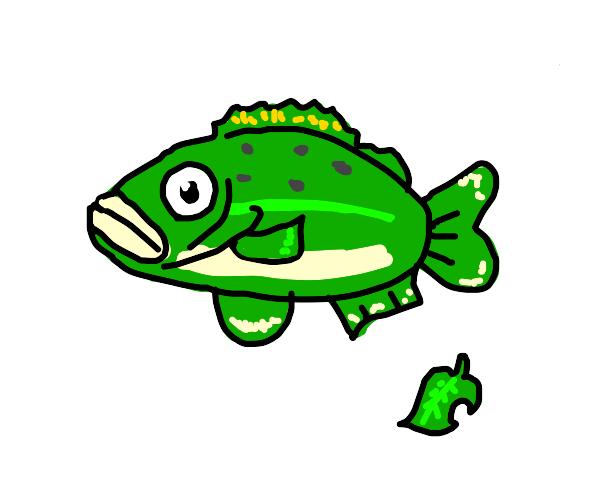 Animal Crossing Sea Bass