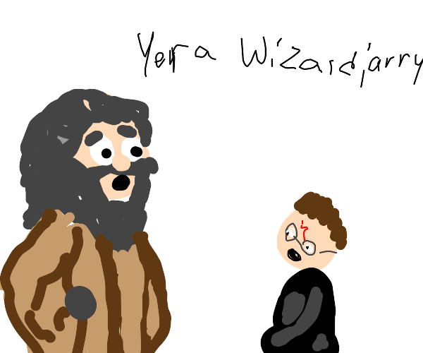 "hagred, ""yer a wizard, 'arry"""