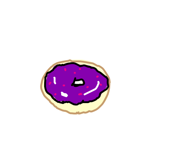 Donut with purple icing