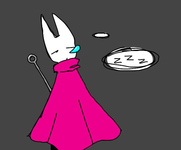 Hornet (Hollow Knight) sleeping