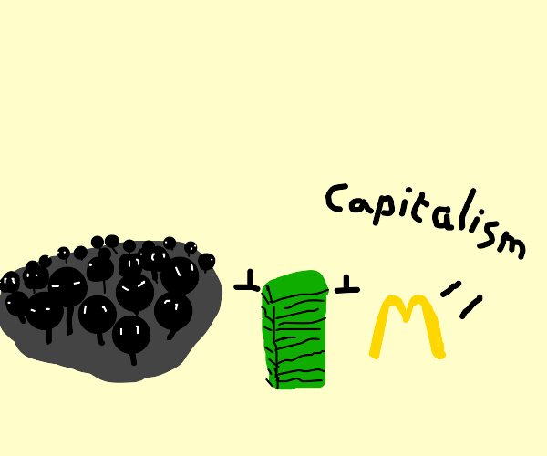People+ Money+ McDonalds= Capitalism