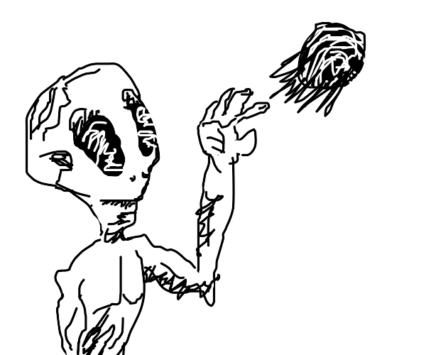 Alien Throws Ball